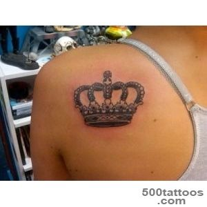 50 Meaningful Crown Tattoos  Art and Design_29
