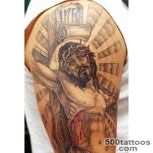 25 Crucifix Tattoo Designs For Men_20