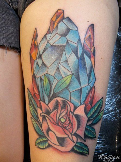 49 Сrystal Tattoos   Meanings, Photos, Designs for men and women_26