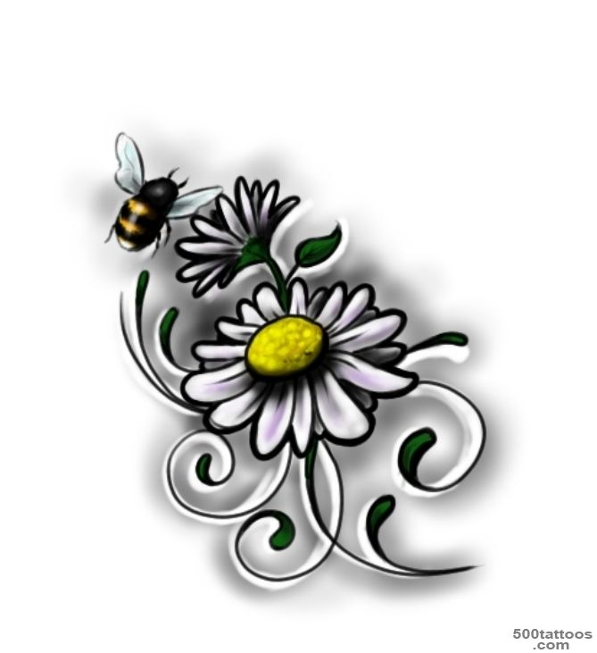 Daisy Tattoo Designs Ideas Meanings Images