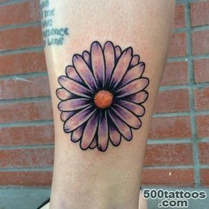 30 Nice Daisy Flower Tattoo Designs amp Meaning_24