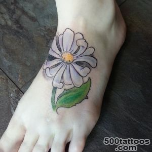 30 Nice Daisy Flower Tattoo Designs amp Meaning_31