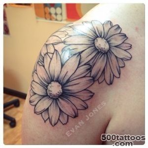 40+ Beautiful Daisy Tattoos On Shoulder_12