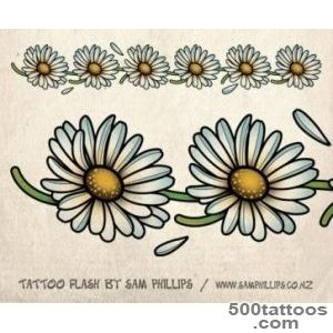 Daisy Tattoo On Right Foot   Tattoes Idea 2015  2016_40
