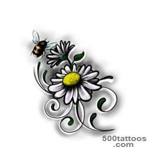 Peace n Daisy Tattoo On Foot  Fresh 2016 Tattoos Ideas_45