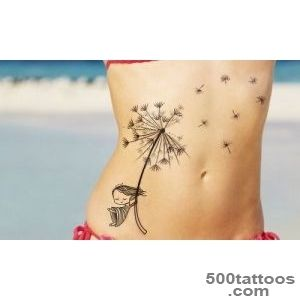 Dandelion tattoo design, idea, image