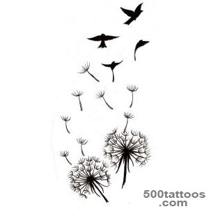 dandelion tattoo   bird silhouettes  WefollowPics_49