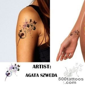 Dandelion Tattoo Stencil  Dandelion Temporary Tattoo_39