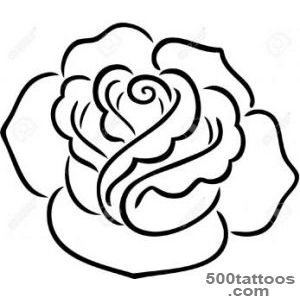 A Decorative Tattoo Of A Rose, Isolated Royalty Free Cliparts _25