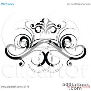 Clipart Illustration of a Black Decorative Design Element Or Back _20