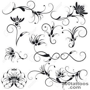 Decorative Floral Design Elements Royalty Free Cliparts, Vectors _33