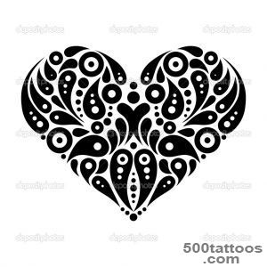 Decorative heart tattoo — Stock Vector © pimonova #25651121_35
