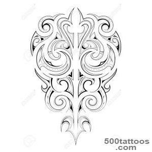 Decorative Tattoo Shape With Ethnic Maori Style Elements Royalty _39