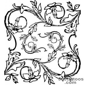 Flowers Floral Decorative Decoration Vines Tattoo Free Vector _31