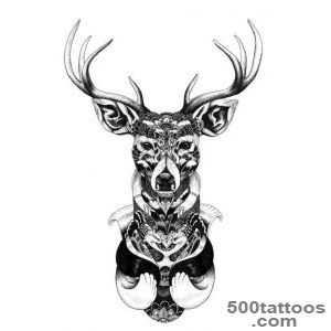 Deer tattoo design, idea, image