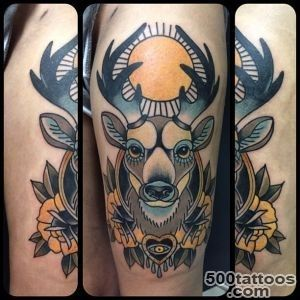 65 Nobel Deer Tattoo Meaning and Designs   Express Your Feelings _8