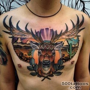 65 Nobel Deer Tattoo Meaning and Designs   Express Your Feelings _25