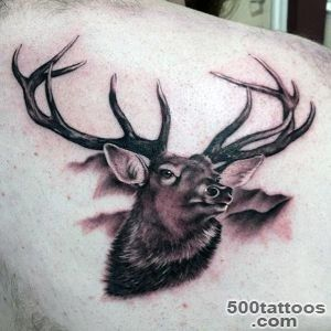 90 Deer Tattoos For Men   Manly Outdoor Designs_10