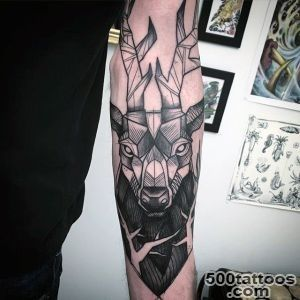 90 Deer Tattoos For Men   Manly Outdoor Designs_16