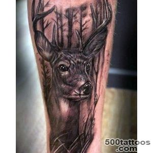 90 Deer Tattoos For Men   Manly Outdoor Designs_40