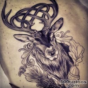 Celtic+Stag+Tattoo  Celtic stag tattoo design by Adam Sky, Rose _49