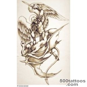 god fighting devil tattoo  The most popular archangel tattoo is _33