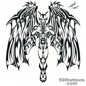 Black-Tribal-Devil-Tattoo-Flash-By-Deb_42jpg