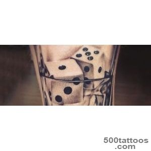 75 Dice Tattoos For Men   The Gambler#39s Paradise Of Life_11