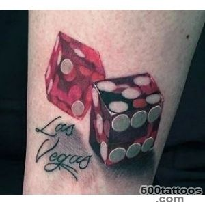 75 Dice Tattoos For Men   The Gambler#39s Paradise Of Life_18