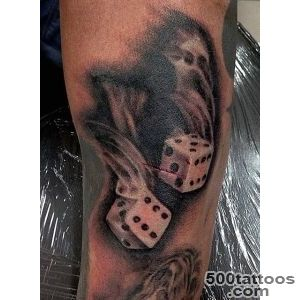 75 Dice Tattoos For Men   The Gambler#39s Paradise Of Life_38