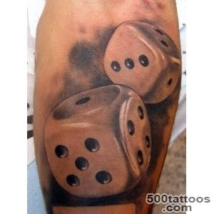 Dice tattoo by Xavier Garcia Boix   TattooMagz   Handpicked _15
