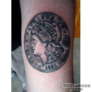 Morgan Silver Dollar Tattoo Tattoo by Tyler Adams in Portland _15