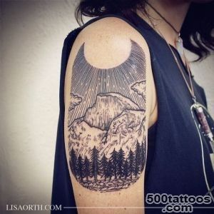 Yosemite Half Dome scene for Kristy Done at Incognito Tattoo Los _1