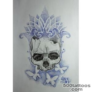 Dot with realistic skull, tattoo design by Blaze Art  Tattoocom_23