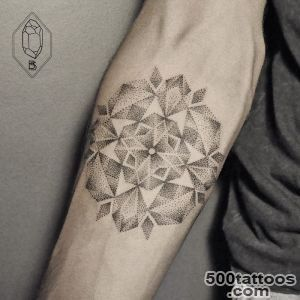 Geometric Line And Dot Tattoos By Turkish Artist Prove Less Is _33