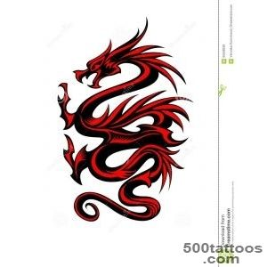 10+ Colored Tribal Dragon Tattoo_46