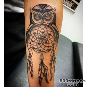 40 Mysterious Photos of Dreamcatcher Tattoos_6