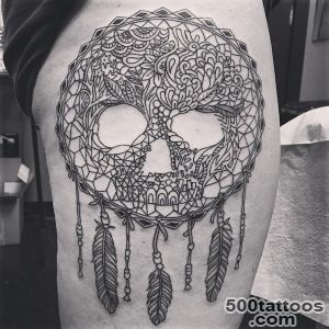 166 Dreamcatcher Tattoos for a Good Night Sleep_42