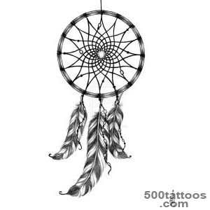 Dreamcatcher Tattoo Drawings for Pinterest_44
