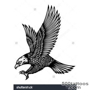 Attacking Eagle Tattoo Stock Vector Illustration 99815441 _42
