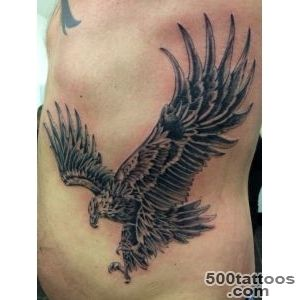 Black and grey eagle tattoo on my ribs  Tattoo ideas  Pinterest _49
