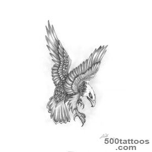 Grey Ink Flying Eagle Tattoo Design  Eagle Tattoos, Eagles and _10