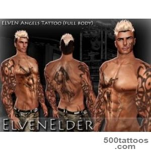 Second Life Marketplace   ELVEN Angels Tattoo (full body)_23