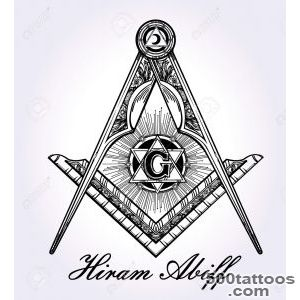 Freemasonry Emblem, Masonic Square Compass God Symbol Trendy _39