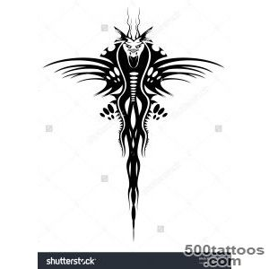 Tattoo Of Black Dragon   Abstract Emblem Vector Version Also _30