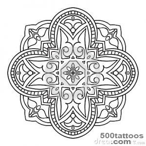 Abstract Circular Tattoos Stock Vector   Image 45682604_23