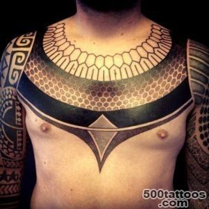 Collar Ethnic Blackwork tattoo  Best Tattoo Ideas Gallery_19