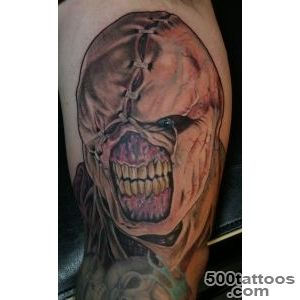 Evil Zombie Portrait Tattoo_43