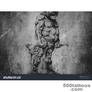 Tattoo Art, Sketch Of An Executioner Stock Photo 304401032 _31