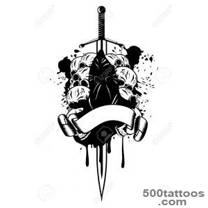 Vector Illustration Executioner And Skull Royalty Free Cliparts _17